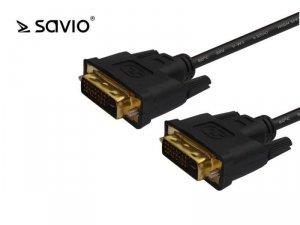 Kabel DVI DM – DVI DM 24+1 dual link Savio CL-53 3m