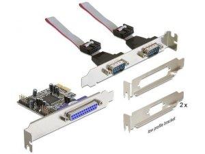 Karta rozszerzeń Delock PCI Express - COM 9Pin x2 + LPT(DB25)