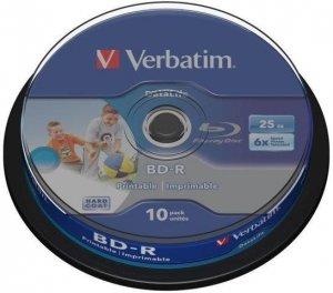 BD-R Verbatim 25 GB Printable SL Datalife Cake 10 Szt