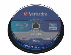 BD-R Verbatim 50 GB SL DataLife Cake 10