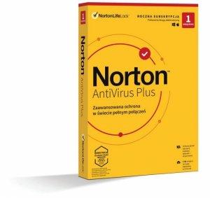Oprogramowanie NORTON Antivirus Plus 2GB PL 1 użytkownik, 1 urządzenie, 1 rok