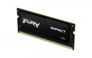 Pamięć SODIMM DDR3 Kingston Fury Impact 4GB (1x4GB) 1600MHz CL9 1,35V czarna