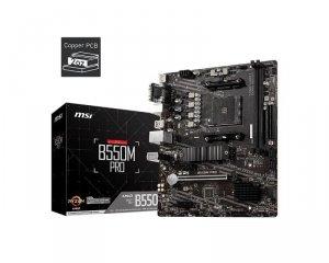 Płyta MSI B550 PRO /AMD B550/DDR4/SATA3/M.2/USB3.1/PCIe4.0/AM4/mATX