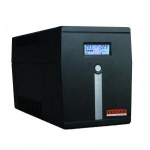 Zasilacz awaryjny UPS Lestar MCL-1500u Line-Interactive 1500VA/900W AVR LCD 6xIEC USB RJ-45 Black