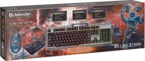 Zestaw dla graczy Defender KILLING STORM MKP-013L (klawiatura+mysz+podkładka)