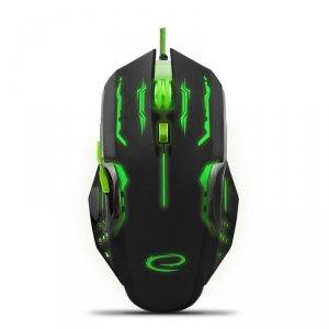 Mysz przewodowa Esperanza MX403 Apache optyczna Gaming 6D USB zielono-czarna