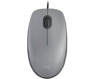 Mysz przewodowa Logitech M110 Silent optyczna szara