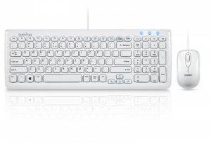Zestaw przewodowy klawiatura+mysz Perixx PERIDUO-303 Compact biały