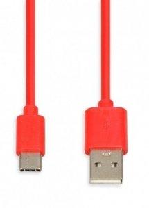 Kabel USB iBOX IKUMTC red, USB 2.0 type-C, cable 1m