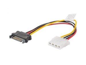 Kabel adapter SATA zasilający(M) - Molex(F) 0,15m Lanberg