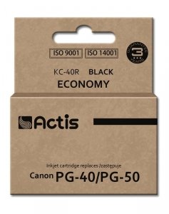 Tusz ACTIS KC-40R (zamiennik Canon PG-40/PG-50; 25 ml; czarny)