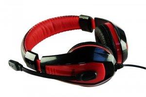 Słuchawki z mikrofonem Media-Tech MT3574 NEMESIS Gaming czarno-czerwone