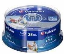 Verbatim BD-R Blu-Ray 25GB Printable c 10
