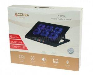 Podstawka chłodząca Accura Premium Purga 15.6 czarny