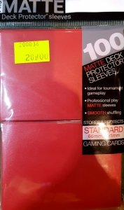Ultra PRO Matte Deck Protector Sleeves (Red)
