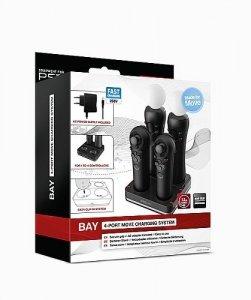 Ładowarka do PlayStation 3 do ładowania czterech kontrolerów jednocześnie /Speedlink Bay 4-Port Move Charging System for PS3 Move