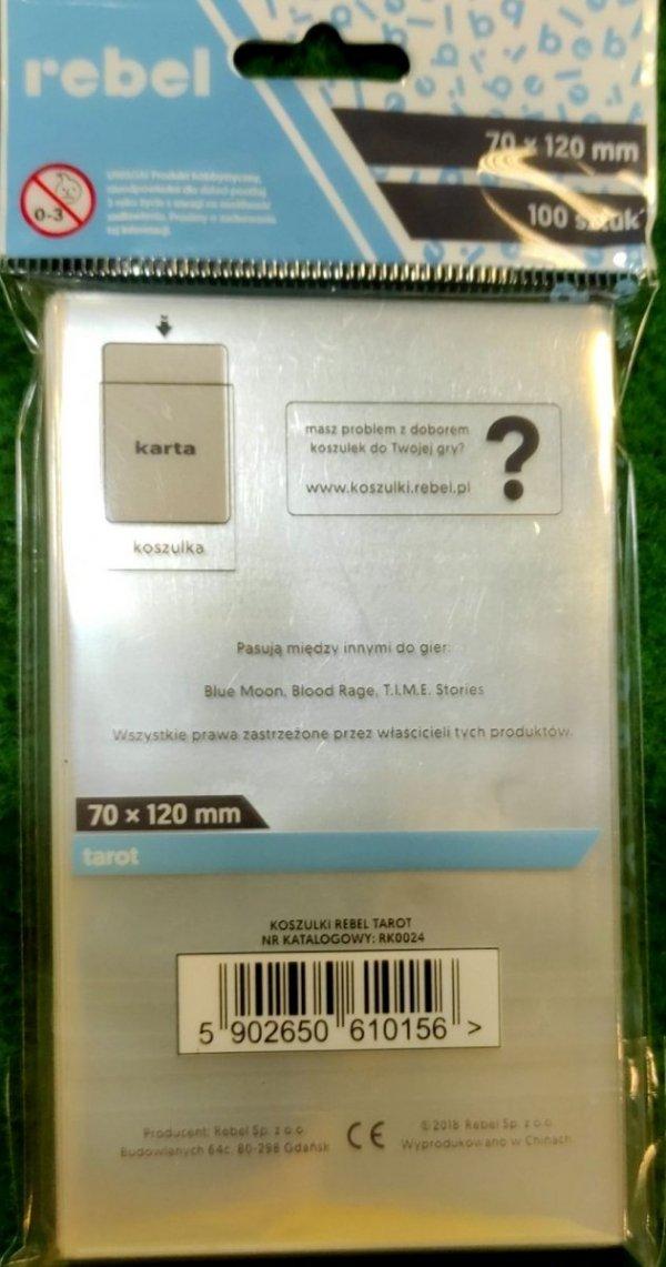 """Koszulki Rebel (70x120 mm) """"Tarot"""" 100 sztuk"""