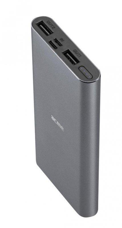 Powerbank Acme PB15G, 10000mAh, szary (space gray)