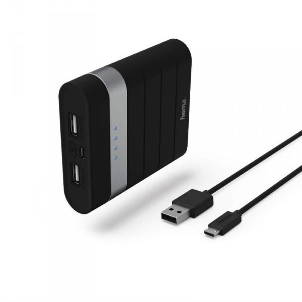 "Powerbank Hama Power Pack ""Soft Touch"" 10400mAh czarny"
