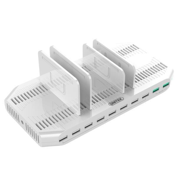 Stacja ładująca Unitek Y-2190A, 10 x USB; QC3.0; 96W