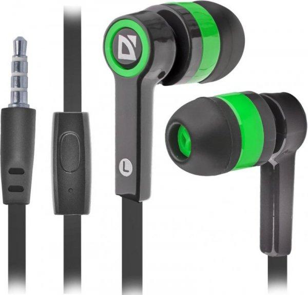 Słuchawki z mikrofonem Defender PULSE 420 douszne 4-pin czarno-zielone