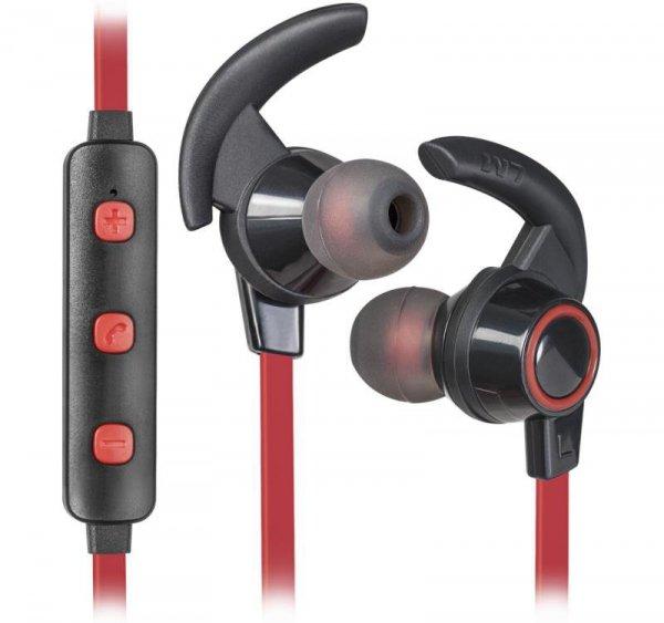 Słuchawki z mikrofonem Defender OUTFIT B725 SPORT Bluetooth douszne czarno-czerwone