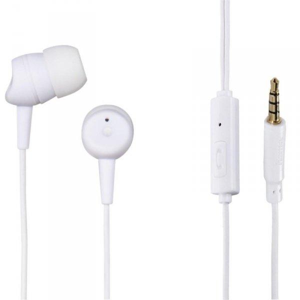 Słuchawki z mikrofonem Hama BASIC4PHONE douszne białe