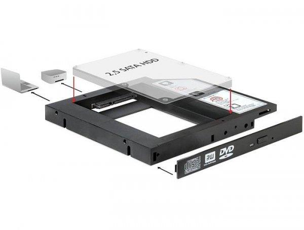 """Adapter Delock ramka 5,25"""">HDD2,5"""" SLIM SATA (SSD 22pin)"""