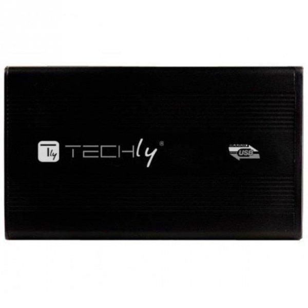 "Obudowa na dysk Techly SATA 2.5"", USB 3.0, aluminiowa, czarna"