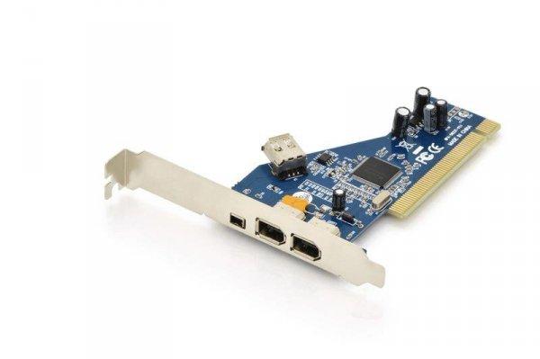 Kontroler FireWire (400) Digitus PCI, 2x 6-pin. 1x 4-pin wew., 1x 6-pin zew. IEEE1394a