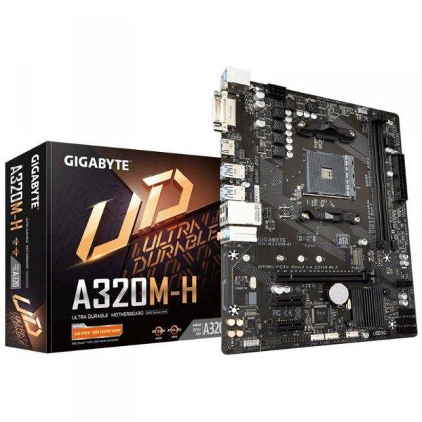 Płyta Gigabyte GA-A320M-H (rev. 2.0) /AMD A320/DDR4/SATA3/USB3.0/PCIe3.0/AM4/mATX