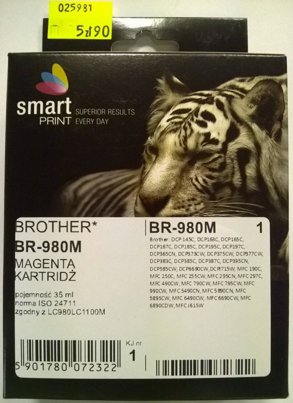 BROTHER LC980 MAGENTA    smart PRINT