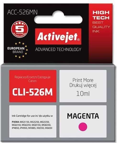 Tusz magenta do Canon (zam. CLI-526M)    (CHIP) ActiveJet ACC-526M (ACC-526MN)