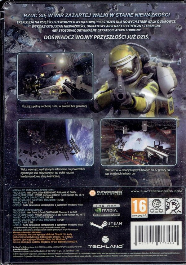 SHATTERED HORIZON PC DVD
