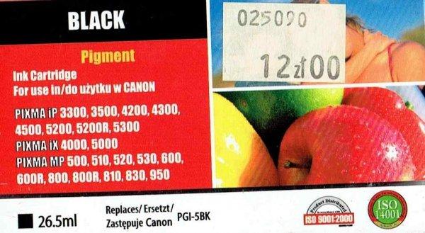 CANON PGI-5Bk        ACTIVEJET