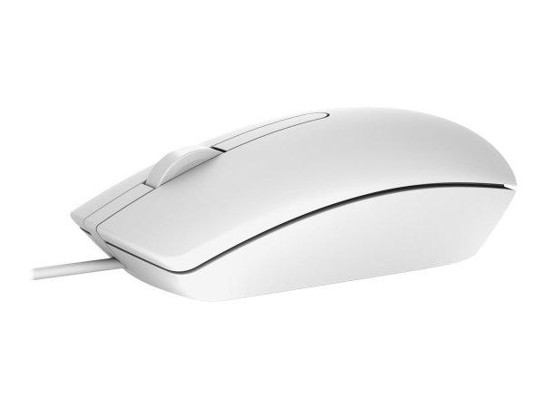 Mysz przewodowa DELL Wired Optical Mouse White MS116 1000dpi