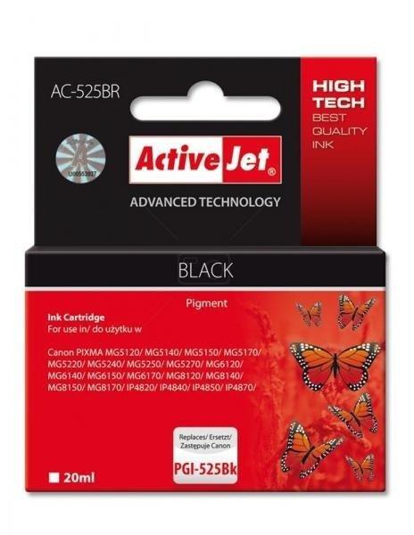Tusz czarny do Canon (zamiennik Canon PGI-525Bk) (chip) ActiveJet AC-525BR