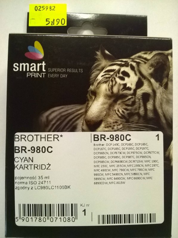 BROTHER LC980 CYAN       smart PRINT