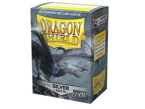 Koszulki Dragon Shield Matte Non-Glare Sleeves - Silver (100 Sleeves)