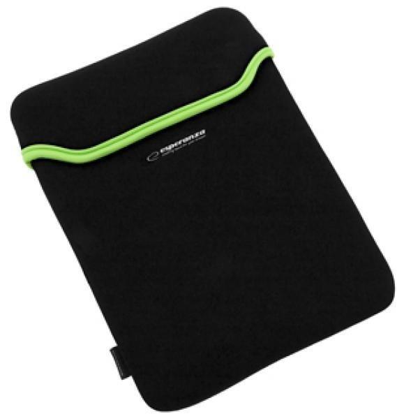 Etui na Tablet 10,1'' 16:9 ET173G| Czarny / Zielony| GRUBY NEOPREN 3mm ESPERANZA