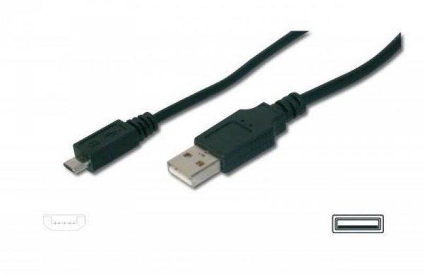 Kabel USB2.0 A/M - mikroUSB B/M 1,8m