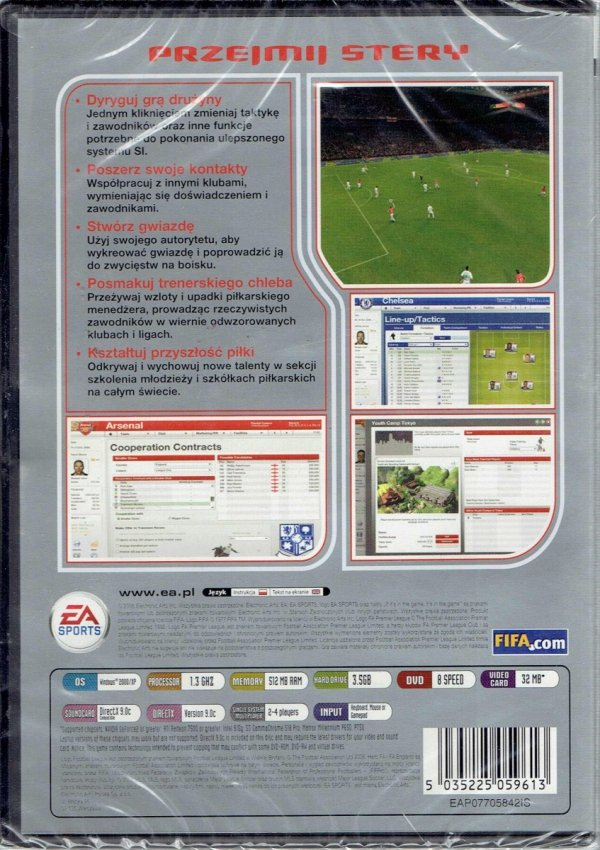 FIFA MANAGER 2007 PC DVD