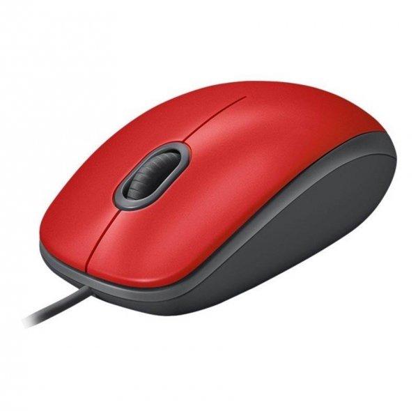 Mysz przewodowa LOGITECH 910-005490 M110 Silent MID RED - EMEA - USB