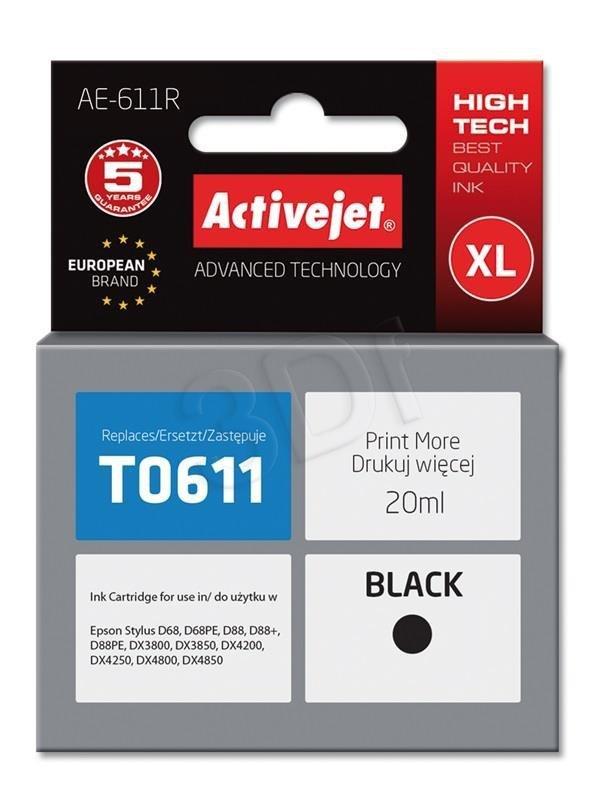Epson T0611 BLACK      ACTIVEJET