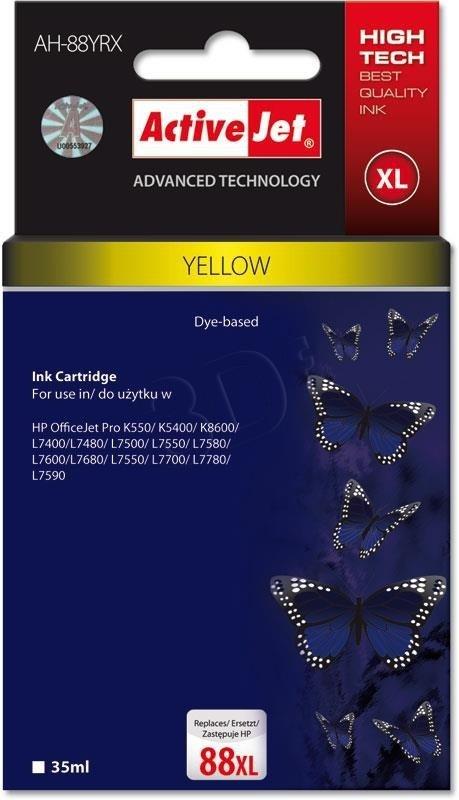 Tusz large yellow do drukarki HP (zamiennik HP 88XL C9393AE) ActiveJet AH-88YRX (AH-393)