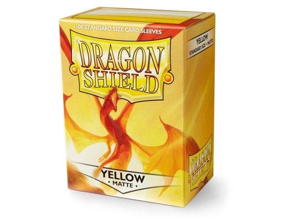 Koszulki Dragon Shield Standard Sleeves - Matte Yellow (100 Sleeves)