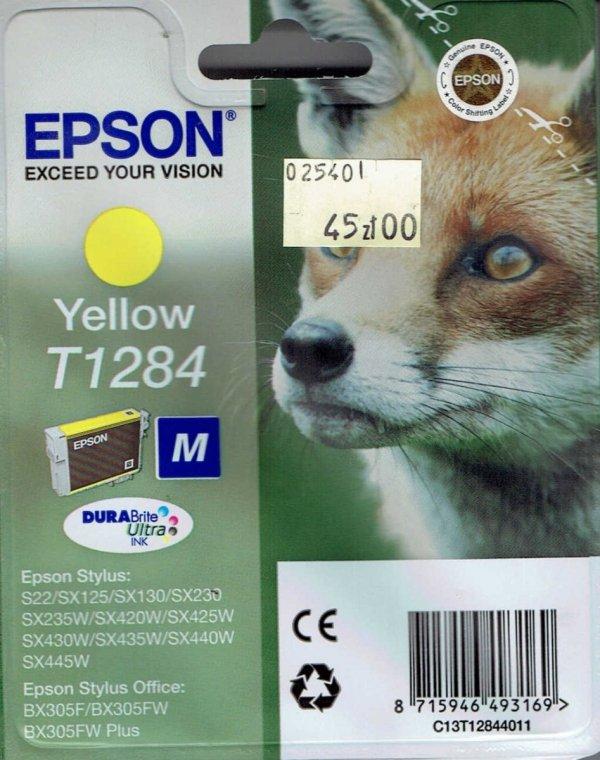 Tusz T1284 yellow Epson Stylus S22 SX125 SX130 SX230 SX420 3.5ml okładka