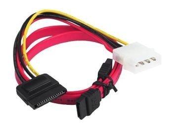 Kabel do dysków SERIAL ATA III/II (SATA) data + zasilanie   45cm