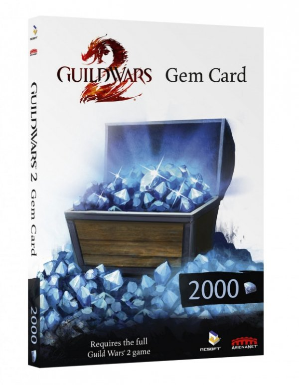 GUILD WARS 2 GEM CARD  PC DVD