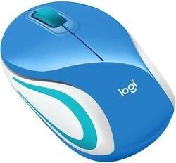 Mysz bezprzewodowa Logitech Wireless Mini Mouse M187 blue 2.4GHz